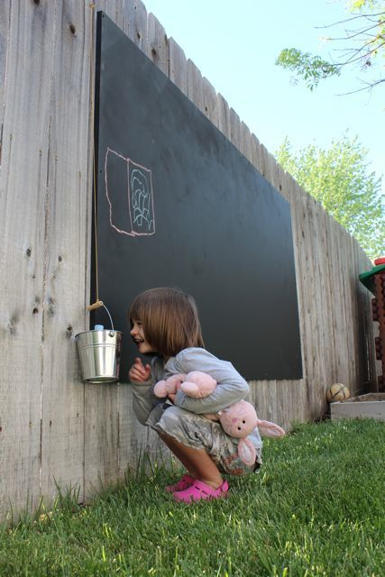 outdoor blackboard