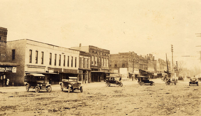 Greenville Main Street, ca. 1910 Credit: Furman University