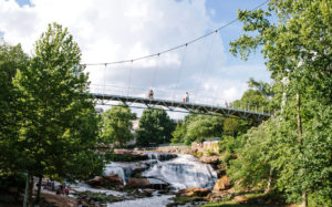 Greenville's Falls Park, Credit: Travel + Leisure